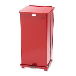 Defenders Biohazard Step Can Square Steel 24 gal Red (RCPST24EPLRD)