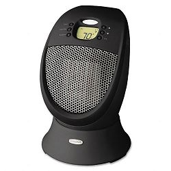 SureSet 1500W Digital Oscillating Ceramic Heater 9-58 x 9-78d x 14-18 Black (HWLHZ338)