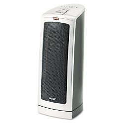 Oscillating 1500W Ceramic Tower Heater wElectronic Control Gray (LSK5369)