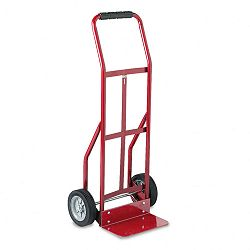 Two-Wheel Steel Hand Truck 300lb Capacity 18 x 44 Red (SAF4081R)