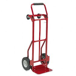 Two-Way Convertible Hand Truck 500-600lb Capacity 18w x 51h Red (SAF4086R)