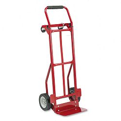 Two-Way Convertible Hand Truck 300-400lb Capacity 18w x 51h Red (SAF4087R)
