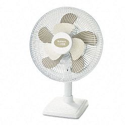 "2Cool 12"" Three Speed Personal Table Fan Metal White (HLSHAOF613U)"