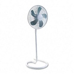 "16"" Three-Speed Adjustable Oscillating Floor Fan Metal and Plastic White (HLSHASF1516)"