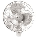 "Oscillating Wall Fan 16"" White (LSK9016)"