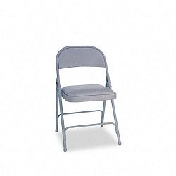 Steel Folding Chair wPadded Seat Gray 4Carton (ALEFC94VY40LG)