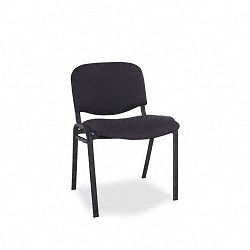 Continental Series Stacking Chairs Black Fabric Upholstery 4Carton (ALESC67FA10B)