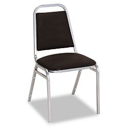Continental Series Square Back Stacking Chairs Black Fabric Upholstery 4Carton (ALESC68FA10C)