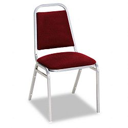 Continental Series Square Back Stacking Chairs Burgundy Fabric Upholstery 4Carton (ALESC68FA30C)