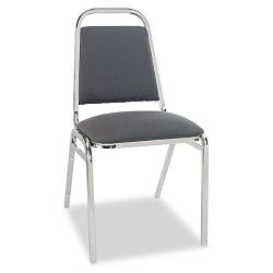 Continental Series Square Back Stacking Chairs Gray Fabric Upholstery 4Carton (ALESC68FA40C)