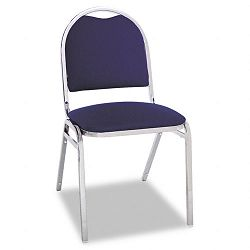 Continental Series Round Back Stacking Chairs Blue Fabric Upholstery 4Carton (ALESC69FA20C)