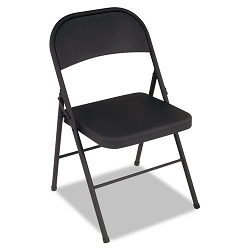 All Steel Folding Chair Steel 18-14w x 19d x 30h Black 4Carton (CSC1471105X)