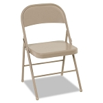 All Steel Folding Chair Steel 18-14w x 19d x 30h Antique Linen 4Carton (CSC14711ANT4)
