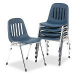 Graduate Series Commercial Stack Chairs NavyDeluxe Chrome 5Carton (CSC36084NVC5)