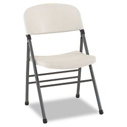 Endura Molded Folding Chair Pewter FrameWhite Speckle 4Carton (CSC36869WSP4)