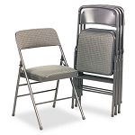 Fabric Padded SeatBack Folding Chair Cavallaro GrayDark Gray (CSC36885CVG4)