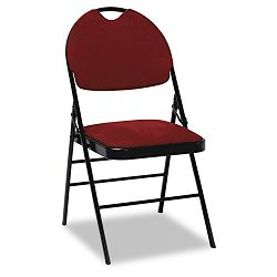 XL Series Fabric Padded Folding Chairs Burgundy FabricBlack Frame 4Carton (CSC36978BGB4)