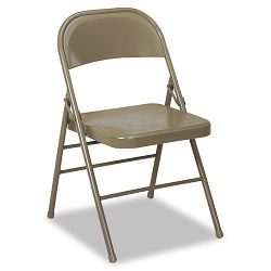 60-810 Series Steel Folding Chairs Taupe 4Carton (CSC60810TAP4)