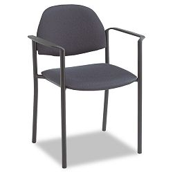 Comet Stacking Arm Chairs Charcoal Polyester Fabric 3Carton (GLB2171BKST11)