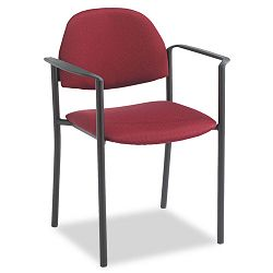 Comet Stacking Arm Chairs Burgundy Polyester Fabric 3Carton (GLB2171BKST15)