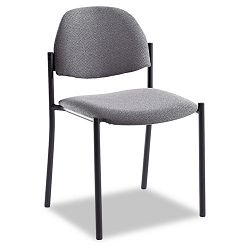 Comet Armless Stacking Chairs Gray Olefin Fabric 3Carton (GLB2172BKIM11)