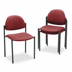 Comet Armless Stacking Chairs Burgundy Olefin Fabric 3Carton (GLB2172BKIM52)