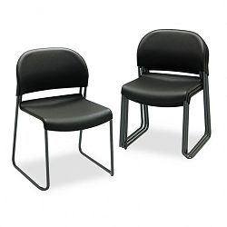 GuestStacker Chair Black with Black Finish Legs 4Carton (HON403110T)