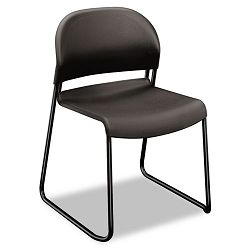 GuestStacker Chair Charcoal with Black Finish Legs 4Carton (HON403112T)