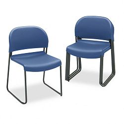 GuestStacker Chair Blue with Black Finish Legs 4Carton (HON403190T)