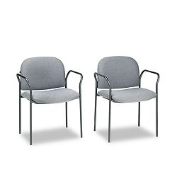 Multipurpose Stacking Arm Chairs Gray 2Carton (HON4051AB12T)