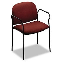 Multipurpose Stacking Arm Chairs Burgundy 2Carton (HON4051AB62T)