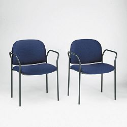Multipurpose Stacking Arm Chairs Blue 2Carton (HON4051AB90T)