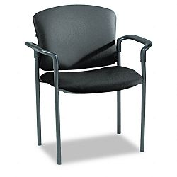 Pagoda 4070 Series Stacking Arm Chairs Black Vinyl 2Carton (HON4071EE11T)