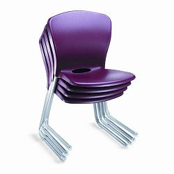 Accomplish Series Large Student Chairs GarnetTitanium 4Carton (HONCL18PCE65C)