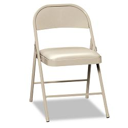 Steel Folding Chairs with Padded Seat Light Beige 4Carton (HONFC02LBG)