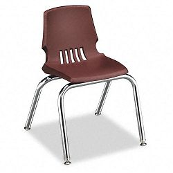 "Proficiency Student Shell Chair 14"" Seat Height Garnet Shell 4Carton (HONH101465Y)"