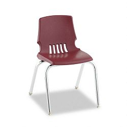 "Proficiency Student Shell Chair 16"" Seat Height Garnet Shell 4Carton (HONH101665Y)"