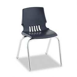 "Proficiency Student Shell Chair 16"" High Navy Shell 4Carton (HONH101691Y)"