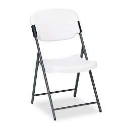 Rough N Ready Resin Folding Chair Steel Frame Platinum (ICE64003)