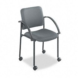 Moto Stacking Chairs Gray Fabric Upholstery 2Carton (SAF4184CH)