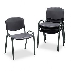 Contour Stacking Chairs Black wBlack Frame 4Carton (SAF4185BL)