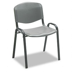 Contour Stacking Chairs Charcoal wBlack Frame 4Carton (SAF4185CH)