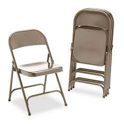 Metal Folding Chairs Bronze 4Carton (VIR16213K)