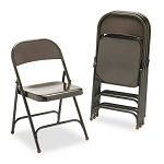 Metal Folding Chairs Mocha 4Carton (VIR16213M)