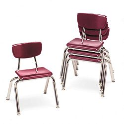"3000 Series Classroom Chairs 12"" Seat Height Wine 4Carton (VIR301250)"