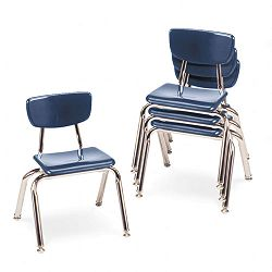 "3000 Series Classroom Chairs 12"" Seat Height Navy 4Carton (VIR301251)"