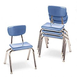 "3000 Series Classroom Chairs 14"" Seat Height Blueberry 4Carton (VIR301440)"