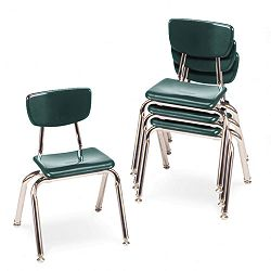 "3000 Series Classroom Chairs 14"" Seat Height Forest Green 4Carton (VIR301475)"