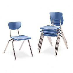 "3000 Series Classroom Chairs 16"" Seat Height Blueberry 4Carton (VIR301640)"