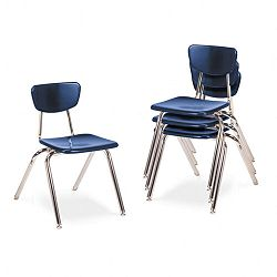 "3000 Series Classroom Chairs 16"" Seat Height Navy 4Carton (VIR301651)"